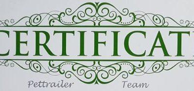 Pettrailer UK Assessment Certificate
